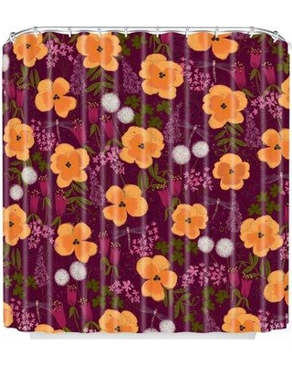 East Urban Home Dandelions And Wild Pansies Shower Curtain UNFP4405