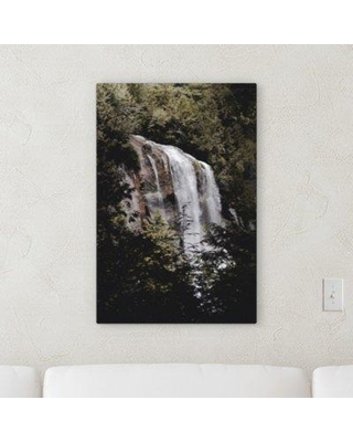 "Ebern Designs 'Waterfall (162)' Photographic Print on Canvas BF122214 Size: 16"" H x 12"" W x 2"" D"