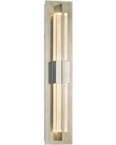 """Hubbardton Forge Double Axis 23 1/2"""" Platinum LED Wall Sconce"""