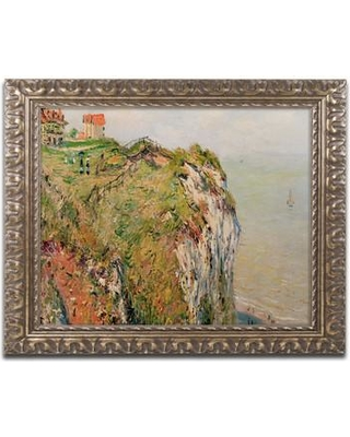 "Trademark Art ""Cliff at Dieppe 1882"" by Claude Monet Framed Painting Print BL0736-G1620F"