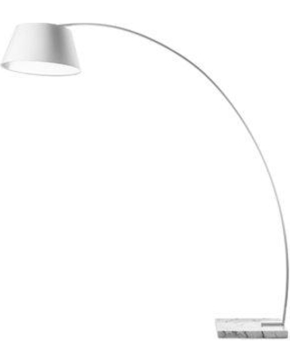 "Wade Logan Blitar 77"" Arched Floor Lamp WADL8721 Finish: White"