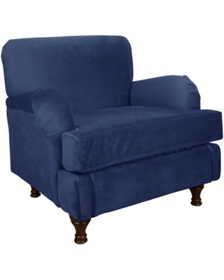 Skyline Furniture Sherman Kids Chair in Velvet Navy