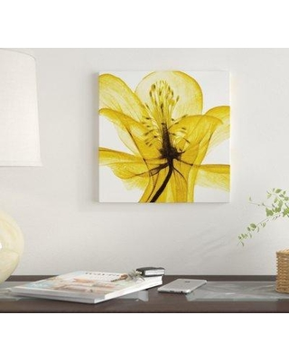 """East Urban Home 'An Open Heart (Yellow)' By Liz Jardine Graphic Art Print on Canvas EUME1784 Size: 12"""" H x 12"""" W x 0.75"""" D"""