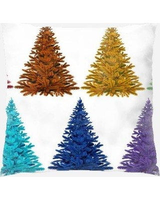 The Holiday Aisle Nocona Christmas Indoor/Outdoor Canvas Throw Pillow W001178801