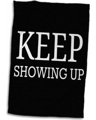 East Urban Home Bronson Keep Showing up Letters Hand Towel W001287886