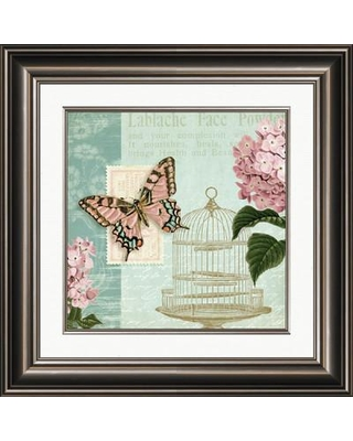 """PTM Images 'Floral Garden II' - Picture Frame Graphic Art Print on Paper, Paper in Green/Pink, Size Medium 25""""-32""""   Wayfair 2-9856B"""