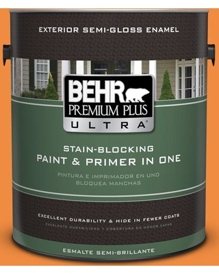 BEHR ULTRA 1 gal. #260B-7 Bird of Paradise Semi-Gloss Enamel Exterior Paint and Primer in One
