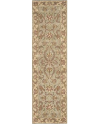 """Astoria Grand Taylor Hand-Tufted Wool Green/Gold Area Rug BUHE4229 Rug Size: Runner 2'3"""" x 12'"""