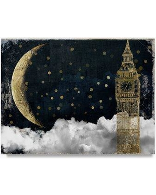 "Trademark Fine Art 'Cloud Cities London' Graphic Art Print on Wrapped Canvas ALI20890-C Size: 35"" H x 47"" W"