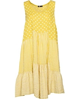 M Made in Italy Women's Casual Dress, Yellow Combo, L