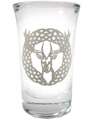 Celtic Stag Shot Glass - Free Personalized Engraving