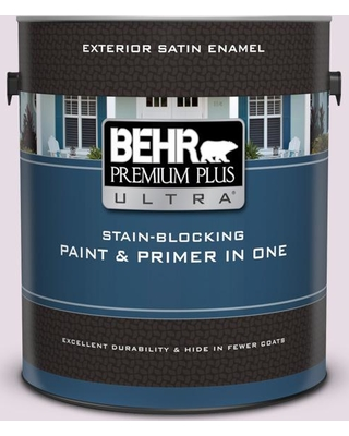 BEHR Premium Plus Ultra 1 gal. #680E-2 Iced Mauve Satin Enamel Exterior Paint and Primer in One