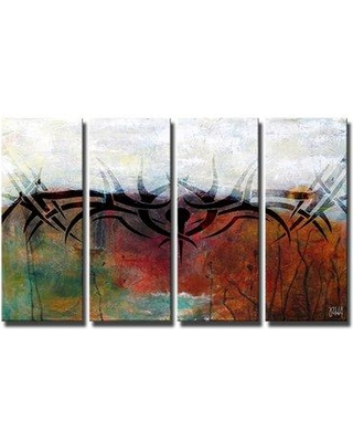 Wrought Studio 'Born2BWild XXVI' 4 Piece Framed Print Set on Canvas in Blue/Brown VARK5577