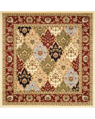 Red Floral Loomed Square Area Rug 6'X6' - Safavieh, Adult Unisex, Red/Multi-colored