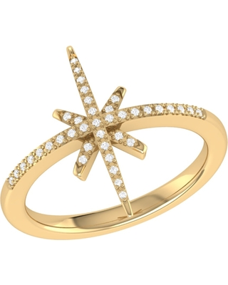LMJ - Twinkle Star Ring In 14 Kt Yellow Gold Vermeil On Sterling Silver
