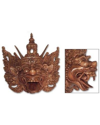 Bloomsbury Market Epic Monkey King Wood Mask Wall Décor BF001449