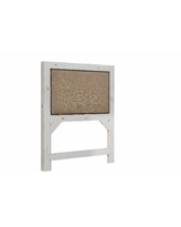 Willow Twin Upholstered Headboard in Distressed White - Progressive Furniture P610-25
