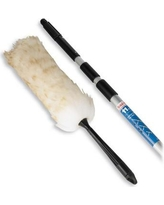 Unger Duster Pole Kit Wool 3-Section Pole Extends 11' Cream/Aluminum UNG95021