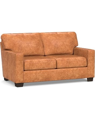 Admirable Dont Miss This Deal Buchanan Square Arm Leather Loveseat Onthecornerstone Fun Painted Chair Ideas Images Onthecornerstoneorg