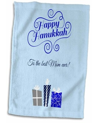 Gilberto Happy Hanukkah to the Best Mom Ever Hand Towel East Urban Home