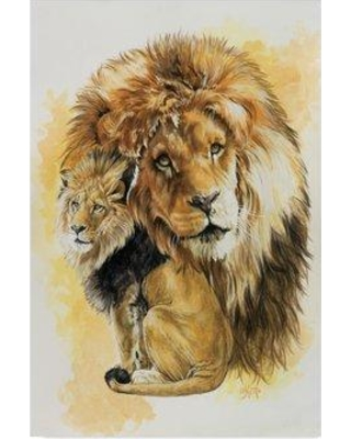 """Trademark Art 'Protector' Oil Painting Print on Wrapped Canvas ALI25429-CGG Size: 32"""" H x 22"""" W"""