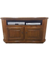 Darby Home Co Cloninger Solid Wood Corner TV Stand for TVs up to 55 inches X112705947 Color: Classic Bourbon