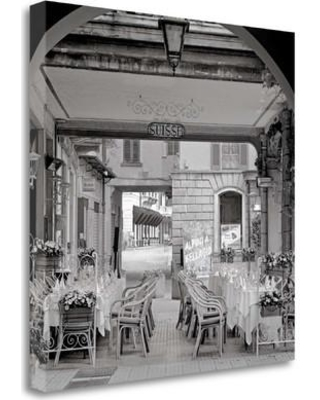 "Tangletown Fine Art 'Bellagio Caffe - 2' Graphic Art Print on Wrapped Canvas ICABIT1325-2020c Size: 35"" H x 35"" W"