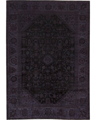 """One-of-a-Kind Overdyed Hand-Knotted 10'7"""" x 14'10"""" Wool Purple Area Rug Bokara Rug Co., Inc."""