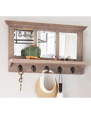 Livingston Entryway Mirror With Hooks From Pottery Barn Real Simple