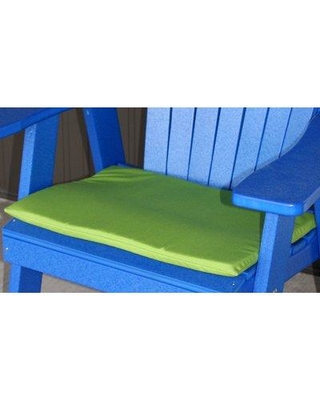 """Charlton Home Indoor/Outdoor Adirondack Chair Cushion X112701243 Fabric: Lime Green Size: 22"""" W x 17"""" D"""