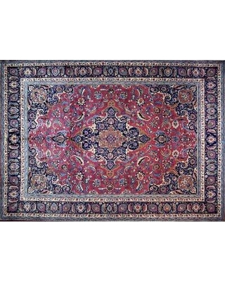 """Isabelline One-of-a-Kind Pitchford Hand-Knotted 9'9"""" x 13'8"""" Red/Gray Area Rug W000752713"""