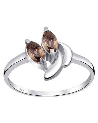 Multi Color Gemstones Sterling Silver Marquise Promise Ring by Orchid Jewelry (8 - Agate)