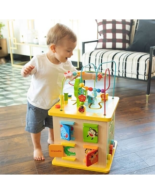 Deluxe Busy Time Play Cube - - Fat Brain Toys