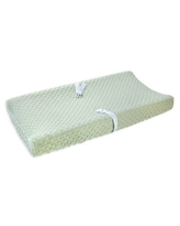 carter's® Bubble Dot Velboa Changing Pad Cover in Sage