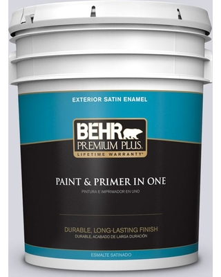 BEHR Premium Plus 5 gal. #MQ3-59 Will O the Wisp Satin Enamel Exterior Paint and Primer in One