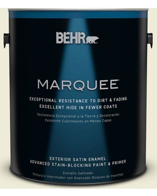 BEHR MARQUEE 1 gal. #PPL-30 Soft Moonlight Satin Enamel Exterior Paint and Primer in One