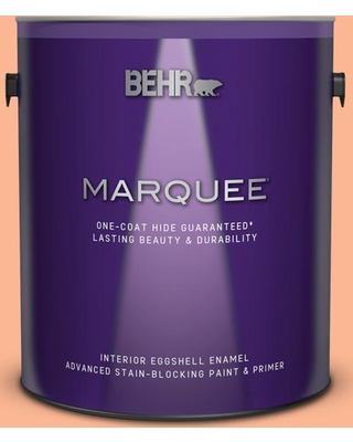 BEHR MARQUEE 1 gal. #P200-4 Carotene Eggshell Enamel Interior Paint and Primer in One
