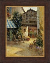 Ashton Wall Décor LLC 'Bistro in Provence II' Framed Painting Print on Canvas 2244