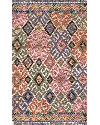"""Union Rustic Wolken Hand-Tufted Wool Pink/Blue Area Rug UNRT1500 Rug Size: Rectangle 3'6"""" x 5'6"""""""