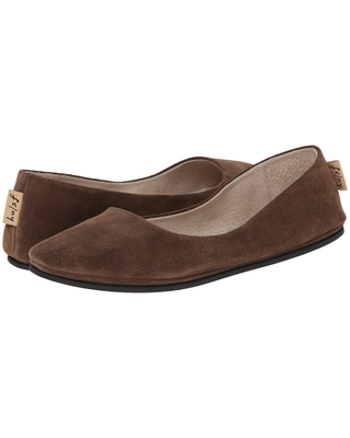 French Sole Sloop Flat (Chocolate Suede) Women's Flat Shoes