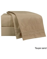 Clara Clark Bright Color Collection Bed Sheet Set (Taupe - Full)