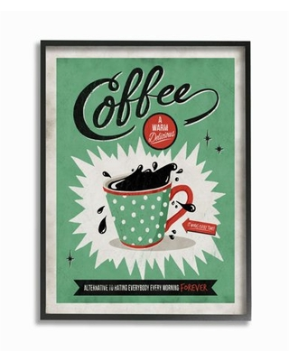 Stupell Industries Coffee Cure Vintage Comic Book Green Red Design Framed Wall Art by Ester Kay