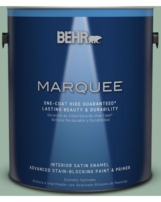 BEHR MARQUEE 1 gal. #S410-4 Copper Patina One-Coat Hide Satin Enamel Interior Paint and Primer in One