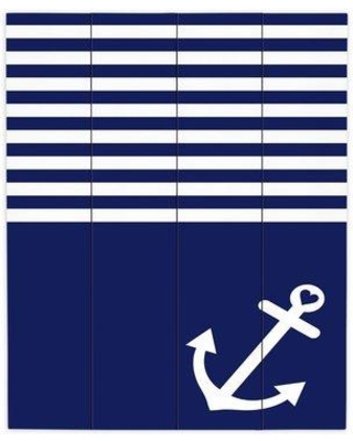 """DiaNocheDesigns Love Anchor Nautical by Organic SaturatiOn Graphic Art Plaque WPA-OrganicSaturationNavyBlueLoveAnchorNautical Size: 20"""" H x 16"""" W x 1"""" D"""