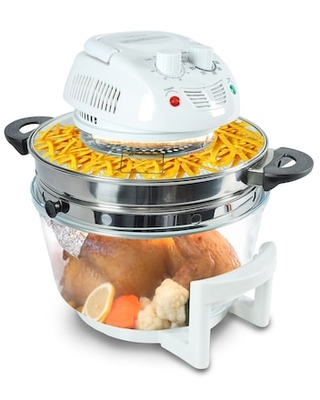 Nutrichef 13+ Qt. Halogen Oven Air-Fryer/Infrared Convection Cooker White (PKAIRFR48) | Quill