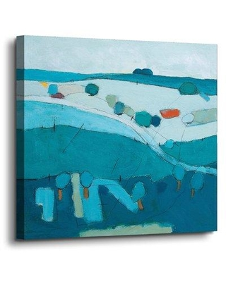 """Wrought Studio 'Blue Hills' Painting Print On Wrapped Canvas VRKG2195 Size: 18"""" H x 18"""" W x 2"""" D"""