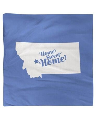 "East Urban Home Home Sweet Helena Napkin FCKL9102 Color: Blue Size: 10"" W x 10"" D Material: Cotton"