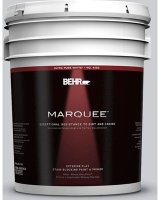 BEHR MARQUEE 5 gal. #760E-2 Manhattan Mist Flat Exterior Paint and Primer in One