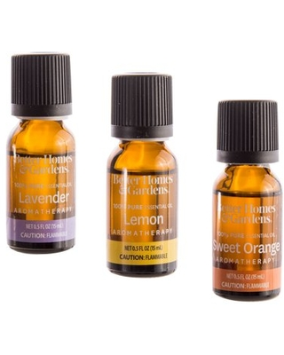 Better Homes & Gardens 15 mL 3 Pack 100 % Pure Essential Oil Set: Lavender, Lemon, and Sweet Orange