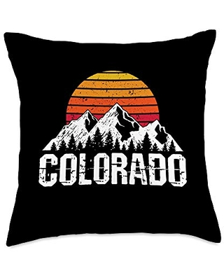 Colorado Vintage Mountain Colorado Gift Throw Pillow